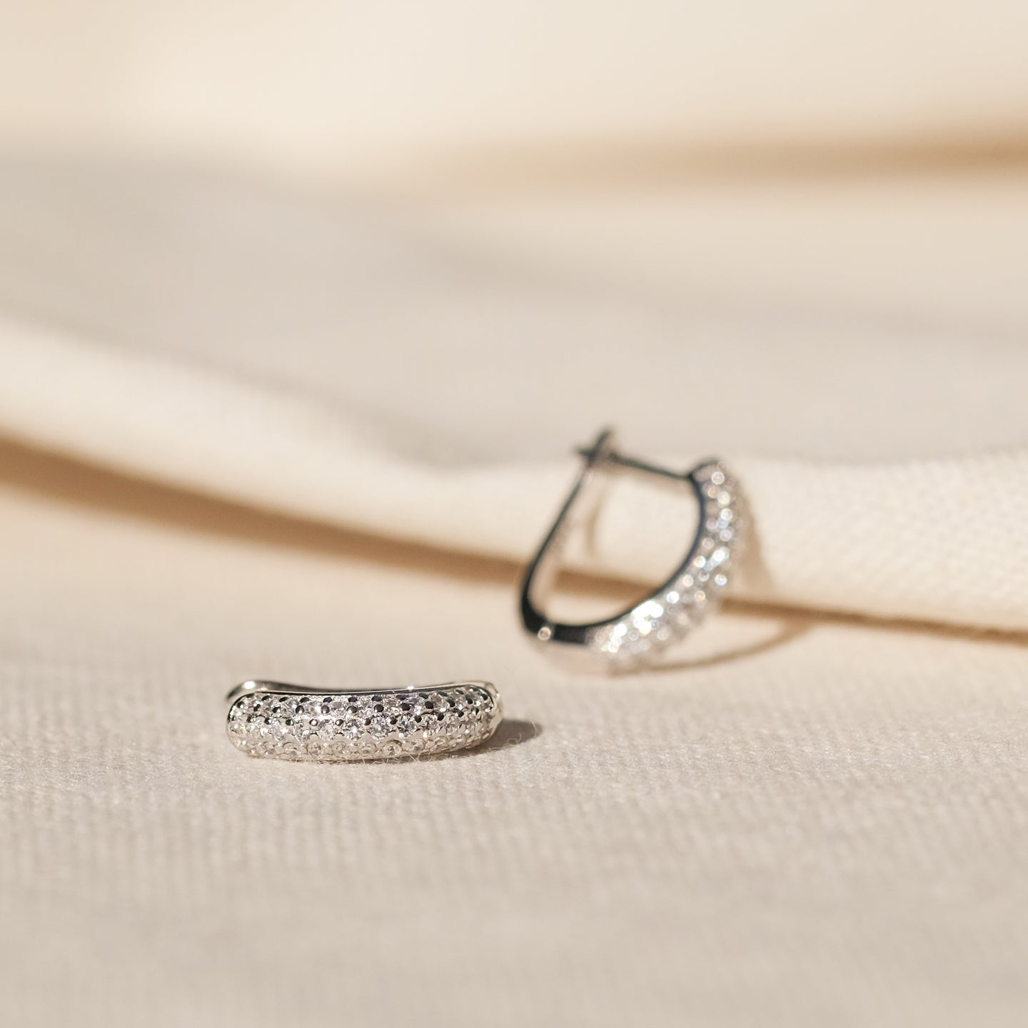 Anna CZ Hoops (925 Sterling Silver)