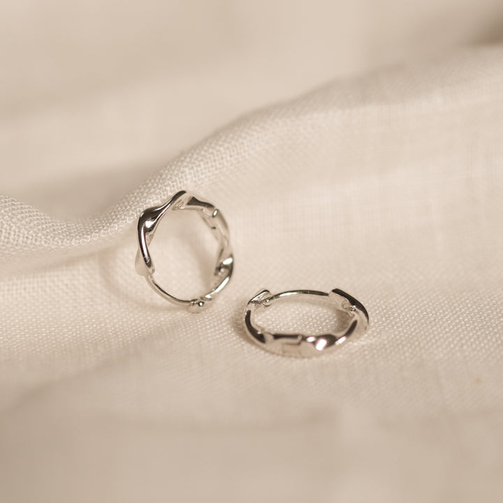 Entwina Hoops (925 Sterling Silver)