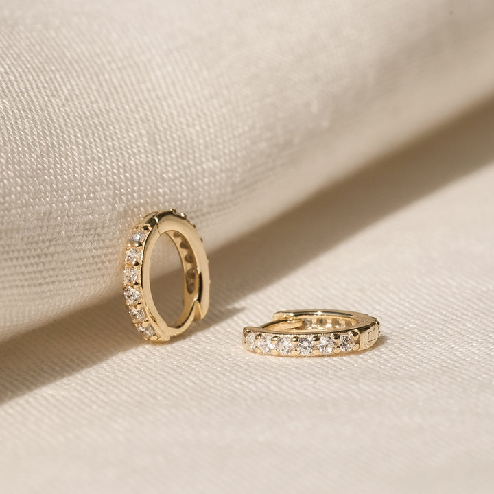 Estona 18K Gold Vermeil CZ Hoops