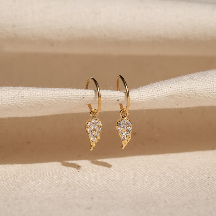 Ever CZ Earrings (Gold Stainless Steel)