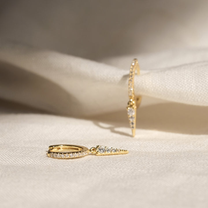 Freya 18K Gold Vermeil CZ Earrings