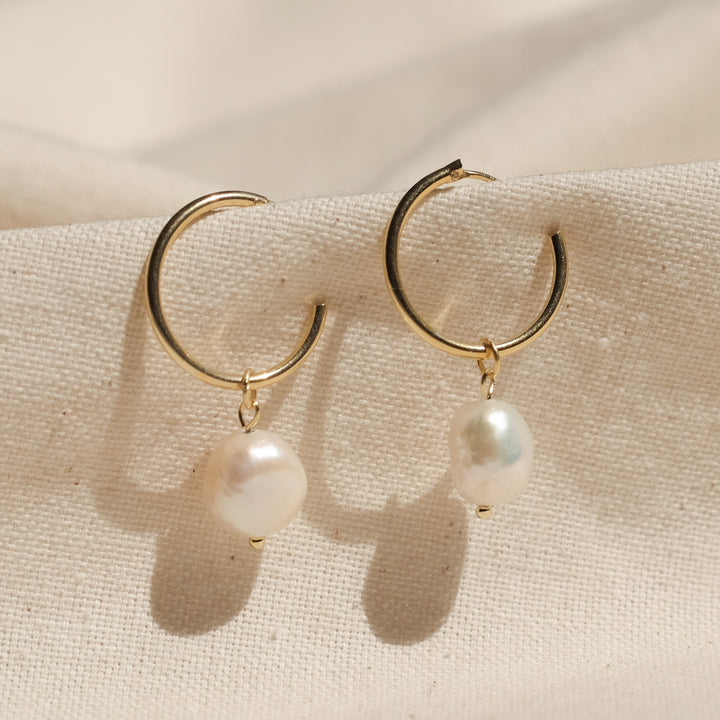 Helen 18K Gold Vermeil Pearl Earrings