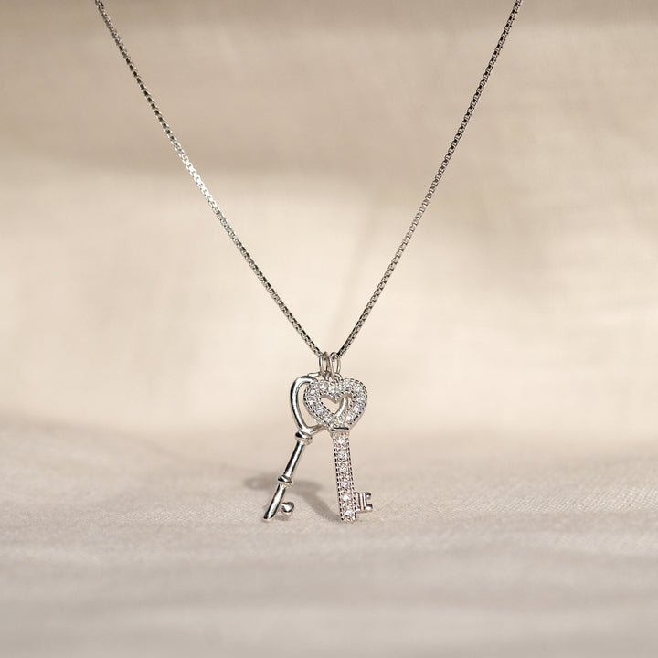 Noa 925 Sterling Silver CZ Necklace
