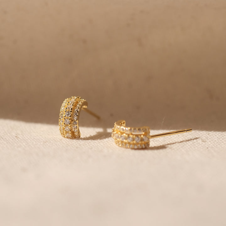 Pola 18K Gold Vermeil CZ Earrings