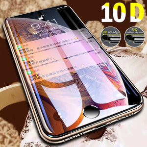 10D Curved Edge Protective Glass on the For iPhone 7 8 6 6S Plus Tempered Screen Protector For iPhone XS MAX XR X Glass Film