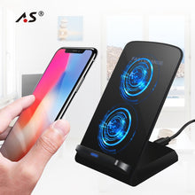 10W QI Fast Wireless Charger for iPhone X 8 Samaung S8 Note 8 S7 S6 Edge All Qi-Enabled Phone Wireless Devices Charging