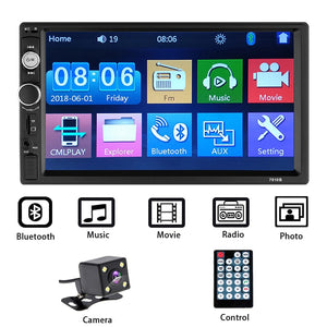 "2 Din Car Radio 7"" HD Autoradio Multimedia Player Touch Screen Auto Audio Car Stereo MP5 Bluetooth Rear View Camera Android"