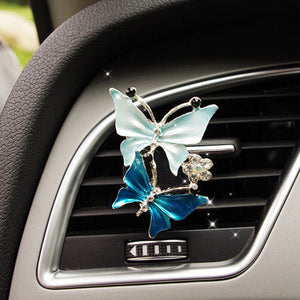 Car Air Freshener Scents Auto Perfume Vent Outlet Clip With Solid Fragrance Sheet Swan Mushroom Butterflies Planet Dance Girl