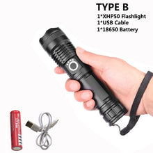 30000 lumens Lamp xhp50.2 most powerful flashlight usb Zoom led torch xhp50 18650 or 26650 Rechargeable battery hunting
