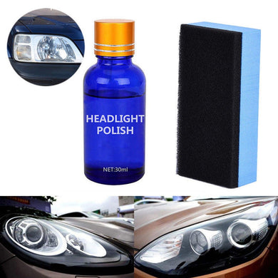 30ML Car Vehicle Headlight Lamp Lens Polish Cleaner Liquid Restoration Kit Auto Light Polishing Repair Coating Agent Car Repair