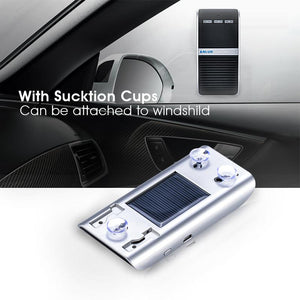 ANLUD Wireless Bluetooth Hands Free Car Kit Phone Speaker Sun Visor Clip