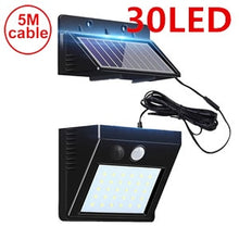 56 leds solar light split solar panel motion sensor for garden garage patio lantern security deck fence decor indoors 5M cable