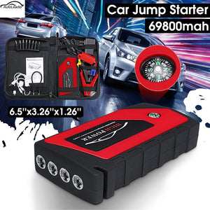 Autoleade 69800mAh 12V Car Jump Starter Emergency Starting Device 4USB LED Light Mobile Power Bank Car Charger Battery Booster