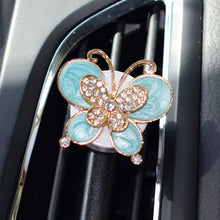 Colorful Butterfly Alloy Car Styling Air Freshener Car Air Condition Vents Decor Fashion Style Air Outlet Perfume