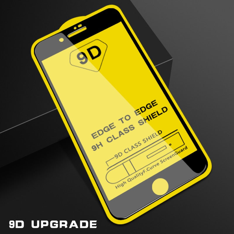 9D protective glass for iPhone 6 6S 7 8 plus X 10 glass on iphone 8 XS MAX screen protector For iPhone 7 8 XR tempered Glass