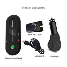 ANLUD Wireless Bluetooth Handsfree Car Kit Multipoint Speakerphone MP3 Music Player Sun Visor
