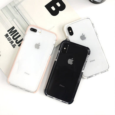 Anti-knock Shockproof Case for iphone X XR XS XS Max Transparent soft TPU case for iphone 7 8 7plus Protective shell