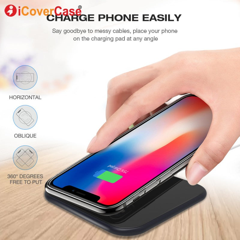 For Samsung Galaxy J5 Prime J7 Prime 2 J7 Max J7 Duo J7 pro J7 V Wireless Charger Charging Pad Case Qi Receiver Phone Accessory