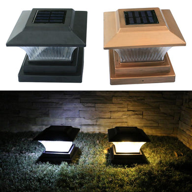 Solar Fence Lamp Landscape Light Garden Post Cap Lamp LED Outdoor Waterproof Path Deck Square Decor Night Lamp