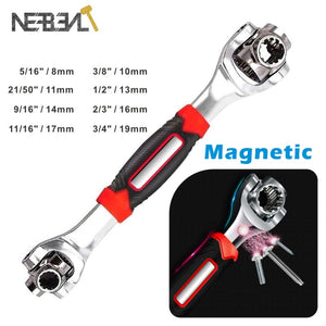 360 Degree Multipurpose Tiger Wrench 8 in 1 Tools Socket Works Universal Ratchet Spline Bolts Torx Sleeve Rotation Hand Tools