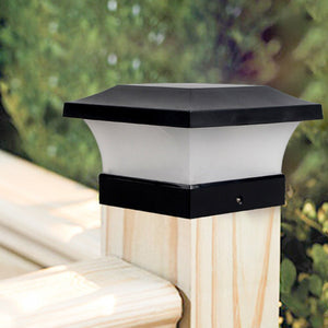 Solar Waterproof LED Post Cap Lights Outdoor Column Headlight Pillar Fence Post Lights Decoration  --M25