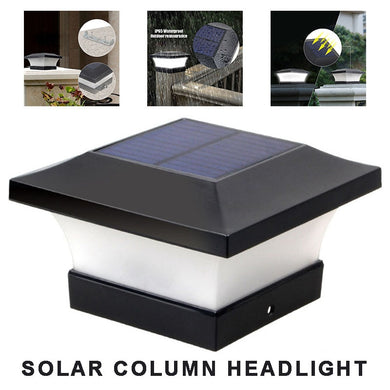 Garden Solar Powered Deck Cap Light Square Fence Path Pool Stair Post Lamp Courtyard Outdoor Lighting High Brightness