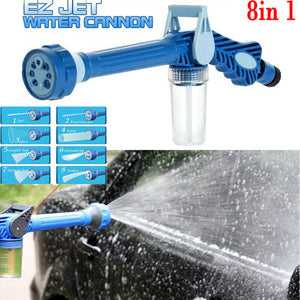 8 Nozzle Ez Jet Water Soap Cannon Dispenser Pump Spray Gun Car Washer US