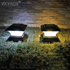 Solar Power LED Pillar Lamp Outdoor Garden Fence Lamp Yard Post Cap Lights Waterproof LED Solar Lamps Path Lights