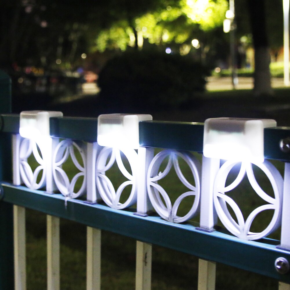 4pcs LED Solar Path Stair Lights IP65 Waterproof Outdoor Garden Yard Fence Wall Lawn Landscape Lamp Staircase Night Light