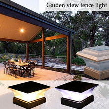 Solar  Fence lamp  Landscape Light  Garden  post cap lamp 28LEDs Outdoor Waterproof  Path Deck  Square Decor Night Lamp