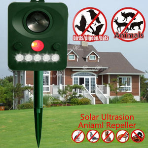 Solar Animal Repeller Ultrasound Dog Cat Bird Repeller Squirrel Reptile Boar Snake Repeller Environmentally Friendly Pest Contro