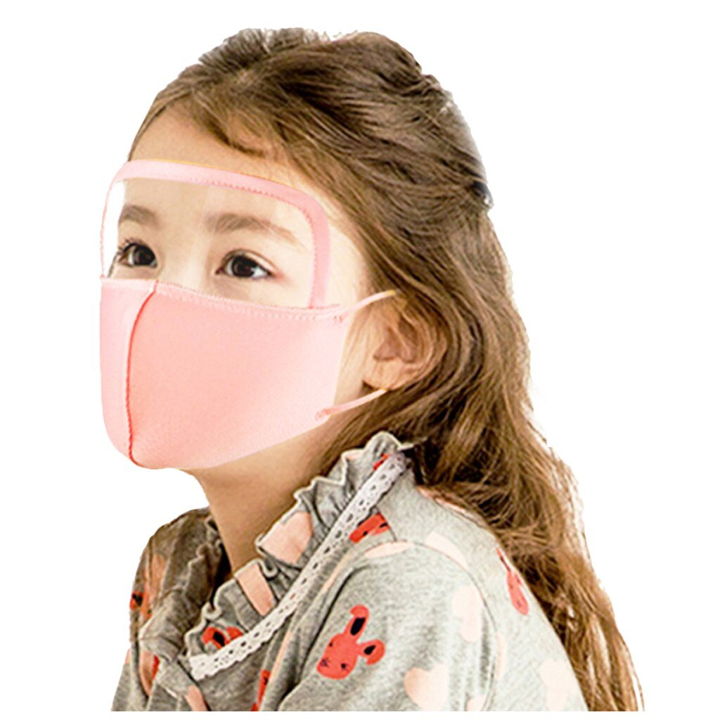Child Masks Dustproof Mondmasker Wasbaar Outdoor Face Mask With Eyes Shield Halloween Cosplay Masque Mascarillas Mondkapjes