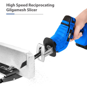 Cordless Reciprocating Saw 21V Adjustable Speed Chainsaw Wood Metal PVC Pipe Cutting Reciprocating Saw Power Tool By PROSTORMER