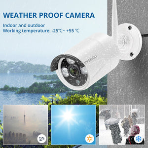 MISECU 8CH NVR 3MP CCTV Wireless System Audio Record Outdoor Waterproof P2P Wifi Security Ai Camera Set Video Surveillance Kit