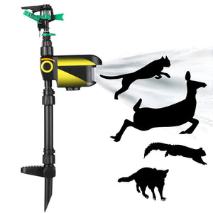 Solar Powered Motion Activated Animal Bird Mouse Repellent Garden Lawn Sprinkler  invading animal away from the garden orchard