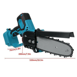 8 inch 1080W Electric Saw Chainsaw Wood Cutters Bracket Brushless Motor For Makita 18v Battery 500r/min Chain Saw Power Tool