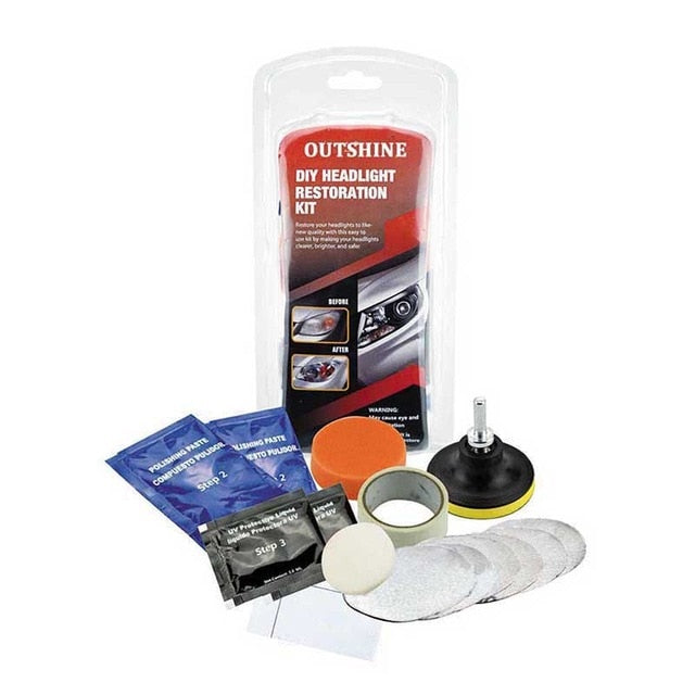 Headlight Lens Restoration Kit Car Head Lamp Repairing Tools Kit Auto Supplies Car Styling