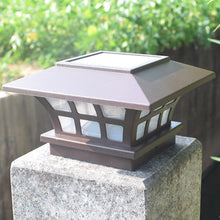Solar Fence lamp Landscape Light Garden Post Cap Lamp Outdoor IP65 Waterproof Path Deck Square Decor Night Lamp