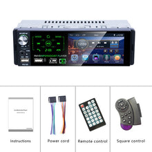 "Hikity Autoradio1 din Car Radio 4.1"" Inch Touch Screen Car Stereo Multimedia MP5 Player Bluetooth RDS Dual USB Support Micphone"