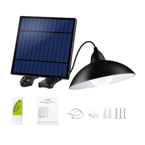 New Outdoor Indoor Solar Light with Remote Control 12 Led Motion Sensor Lights Solar Pendant Light for Garden Cafe