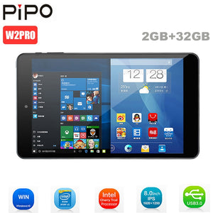 Original Pipo W2PRO Tablets PC 8 Inch Full HD IPS Screen Windows 10 Intel Cherry Trail Z8350 Quad Core 2GB+32GB Dual Cam Tablets