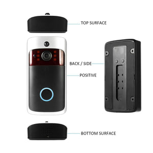 Smart Wireless WiFi Security DoorBell Visual Recording Consumption Remote Home Monitoring Night Vision Smart Video Door Phone