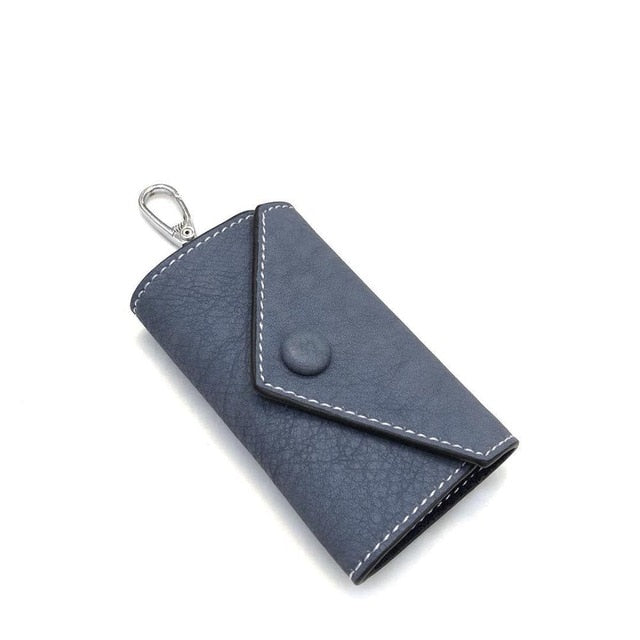 Vintage Crazy Horse Genuine Leather Keychain Men Women Key Holder Cow Split Car Key Bag Wallet Housekeeper Keyring Case wallets