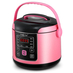 Yoice Multi Mini Rice Cooker 2L for 1-4 People  Y-MFB6 Smart 24h Reservation Timing Soup Maker Machine Mini Fried Pan Steamer