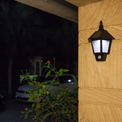 Konesky Solar Motion Activated Hexagonal Waterproof LED Light Wall Lamp.