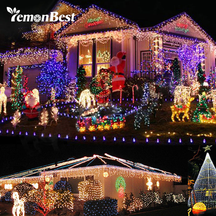 RGB 7W 10m 100 LED Indoor/Outdoor  Christmas Lights.