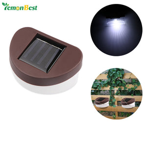 Outdoor Waterproof 2-LED Solar Wall Lamp.