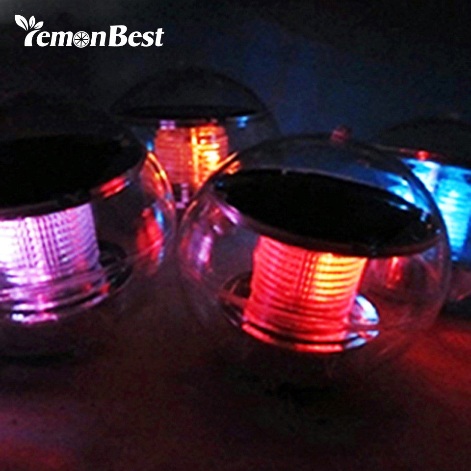 Solar Power LED Floating Night Light Ball Waterproof Multi Color changing lamp.
