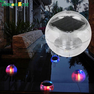 Waterproof RGB LED Floating Light Pool Solar Power Lamp.
