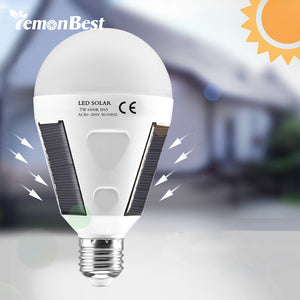 Lemonbest Rechargeable Solar LED Bulb E27 Hanging LED Solar Lamp 12W 7W 85-265V for Outdoor Hiking.